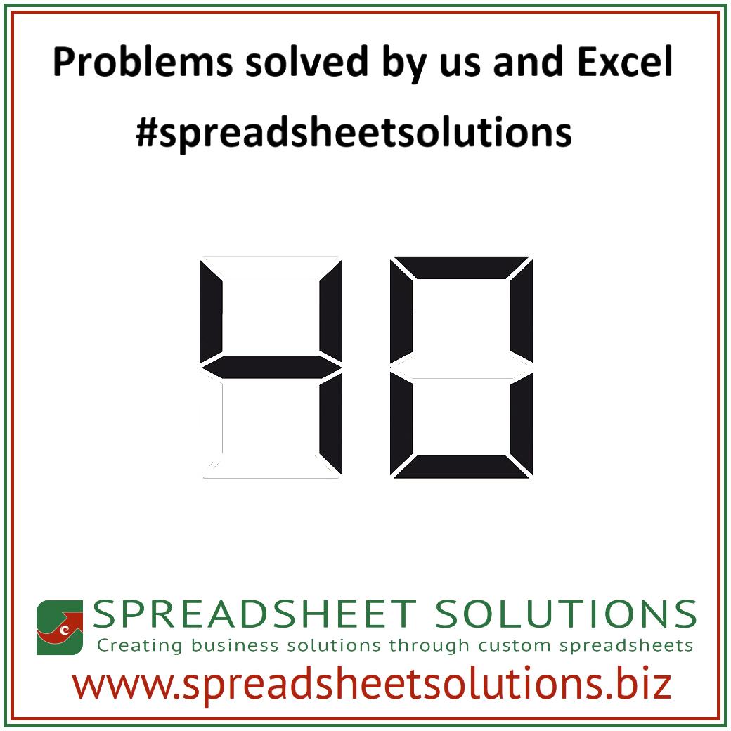 Excel Spreadsheet Problem Solving Inside 40 Problems Solved  Spreadsheet Solutions