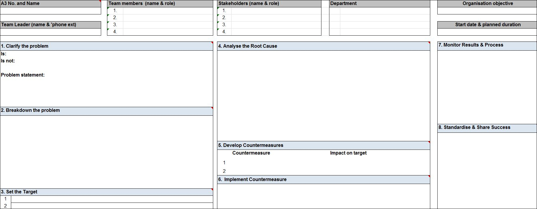 Excel Spreadsheet Problem Solving Pertaining To A3 Problem Solving  Wikipedia