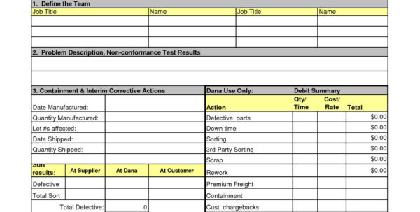 Excel Spreadsheet Problem Solving Throughout 8D Problem Solving Template Excel – Spreadsheet Collections