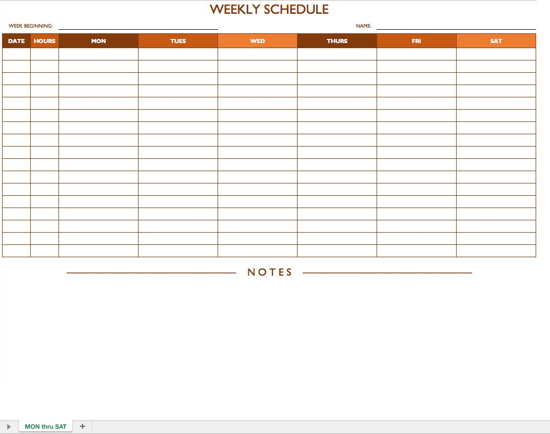 Excel Spreadsheet Schedule Template Intended For Free Work Schedule Templates For Word And Excel