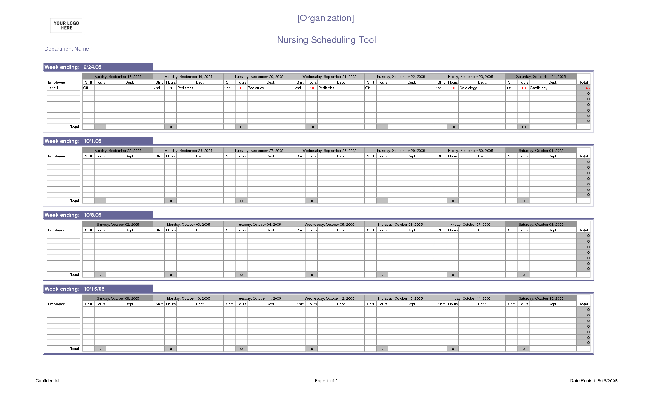 Excel Spreadsheet Schedule Template Pertaining To Excel Spreadsheet For Scheduling Employee Shifts And Nursing Staff