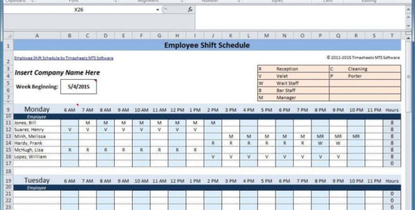 Excel Spreadsheet Scheduling Employees Pertaining To Employee Schedule Spreadsheet Excel For Scheduling Shifts And Weekly Excel Spreadsheet Scheduling Employees Google Spreadsheet