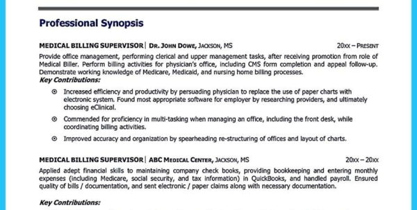 Excel Spreadsheet Specialist Pertaining To Sample Resume For Medical Billing Specialist Resumes And Coding