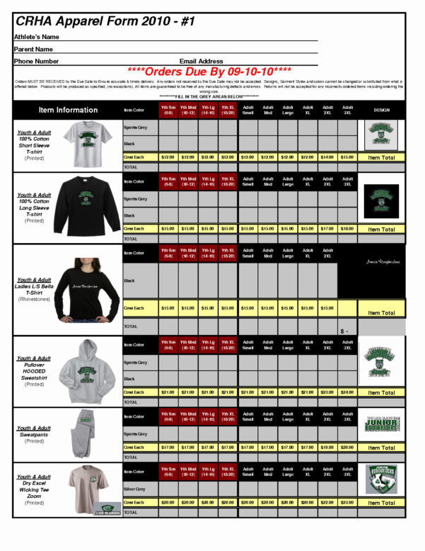 Excel Spreadsheet T Shirt Regarding T Shirt Order Form Template Excel – Spreadsheet Collections