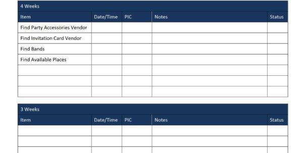 Excel Spreadsheet Task List Template Regarding Task List Template Excel Spreadsheet Fresh Event Planning To Do List