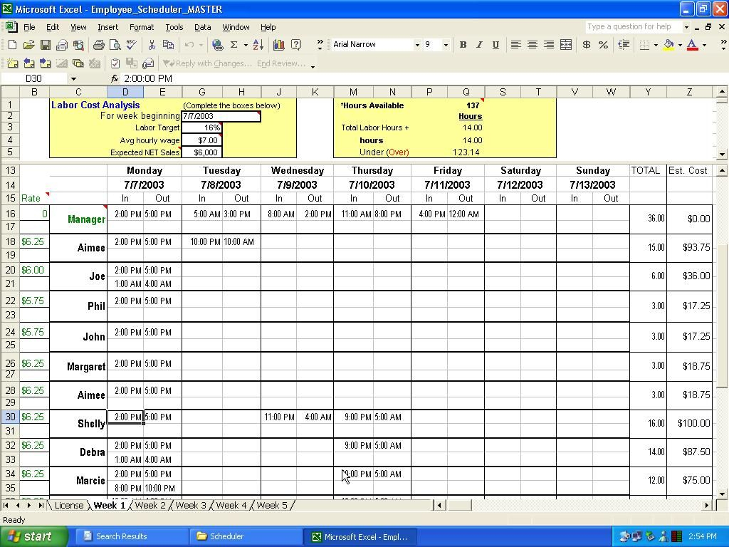 Excel Spreadsheet Template For Employee Schedule For Employee Schedule Spreadsheet Invoice Template Google Sheets