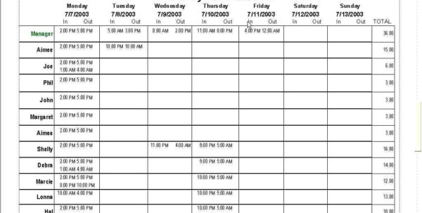 Excel Spreadsheet Template For Employee Schedule With Excel Spreadsheet For Scheduling Employee Shifts And With Template
