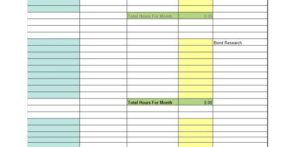 Excel Spreadsheet Template For Timesheet Regarding 40 Free Timesheet / Time Card Templates  Template Lab