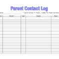 Excel Spreadsheet Templates For Teachers For Parent Contact Log Template Pdf Excel Teacher Communication Autism