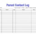 Excel Spreadsheet Templates For Teachers For Parent Contact Log Template Pdf Excel Teacher Communication Autism