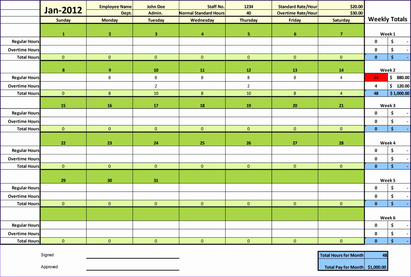 Excel Spreadsheet Timesheet Within Weekly Timesheet Template Excel – Spreadsheet Collections
