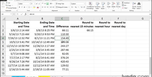 Excel Spreadsheet Tips With Calculating With Hours Minutes And Time Of Day Excel Tips Example