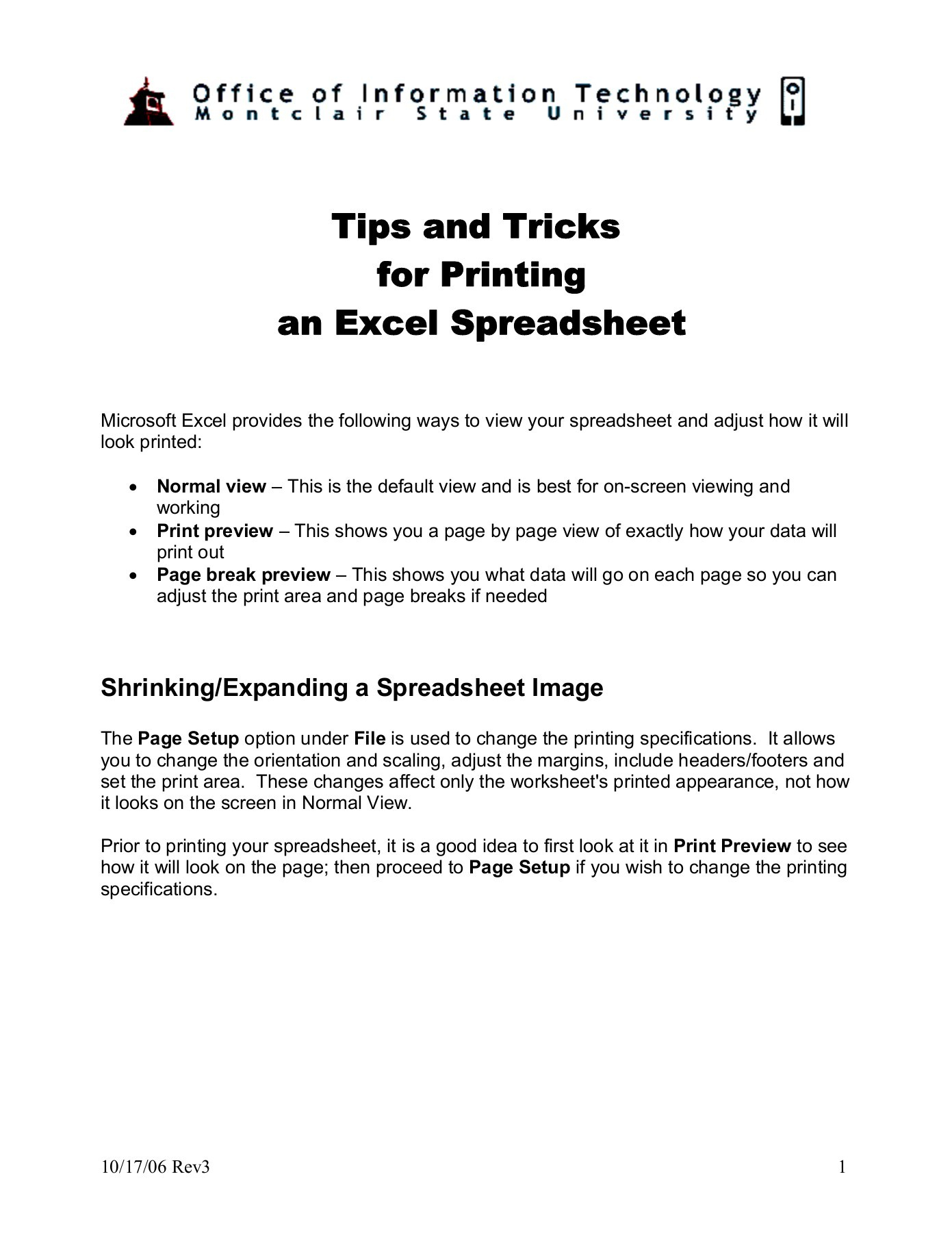 Excel Spreadsheet Tips With Regard To Excel  Tips And Tricks For Printing An Excel Spreadsheet  Pages