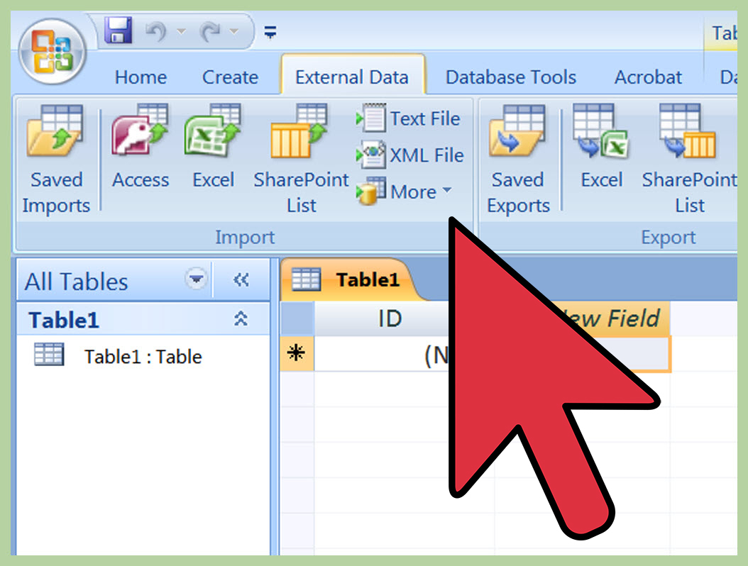 Excel Spreadsheet To Access Database Intended For How To Import Excel Into Access: 8 Steps With Pictures  Wikihow