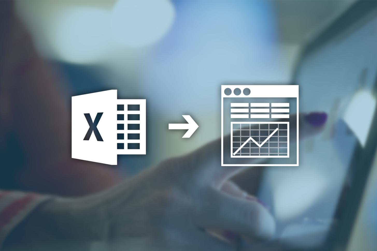 Excel Spreadsheet To App Regarding Convert Excel Spreadsheets Into Web Database Applications  Caspio