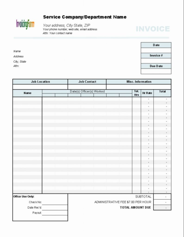 Excel Spreadsheet To Calculate Hours Worked For Creating An Invoice For Hours Worked Excel Hours Worked Template