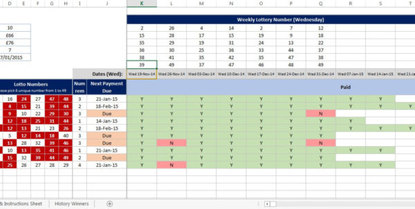 Excel Spreadsheet To Check Lottery Numbers Within Uk National Lottery  Etsy