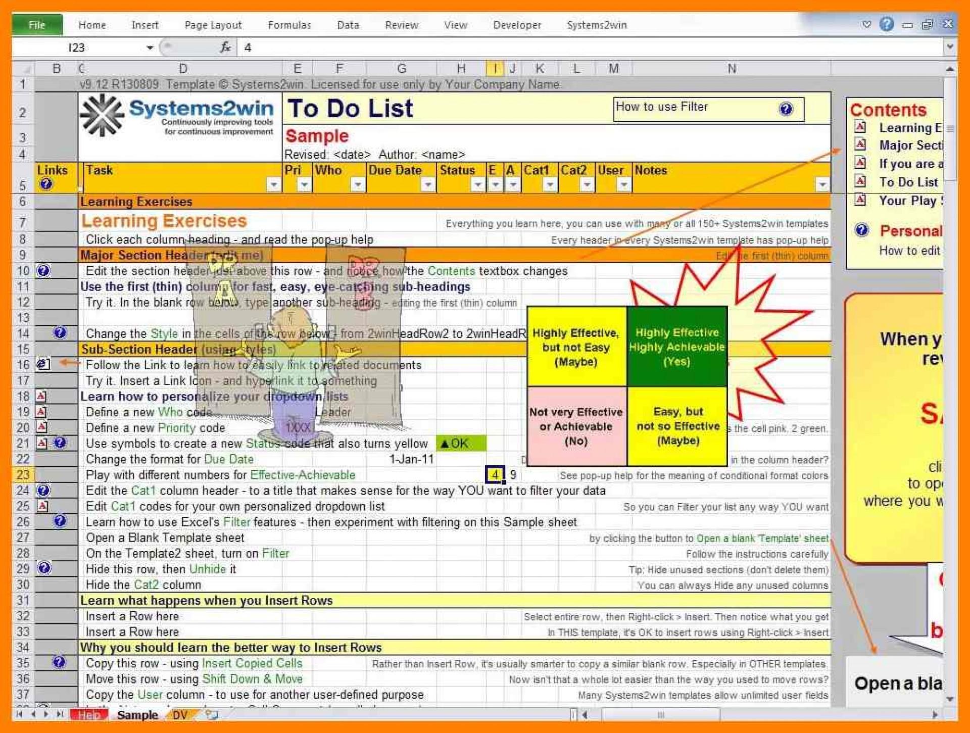 Excel Spreadsheet To Do List Inside 004 Excel To Do List Template Ic Team Task ~ Ulyssesroom
