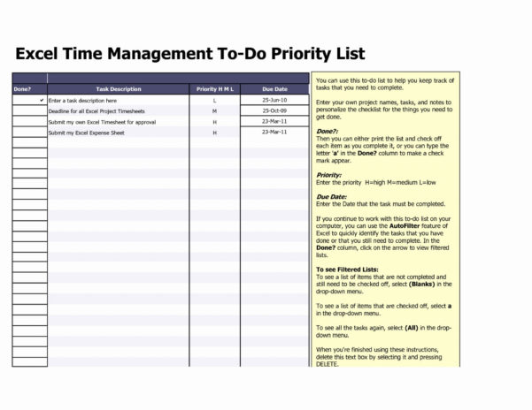 Excel Spreadsheet To Do List Pertaining To 017 Weekly Todo List Template Task Excel Spreadsheet My Templates