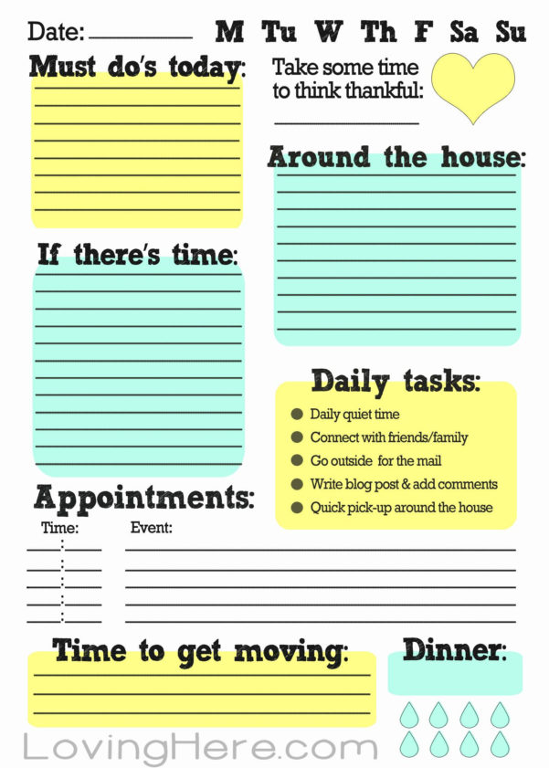 Excel Spreadsheet To Do List Pertaining To Daily To Do List Template Excel – Spreadsheet Collections