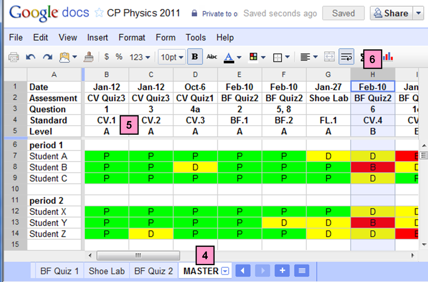 Excel Spreadsheet To Track Student Progress Intended For Sbg: Keeping Track Of It All  Actionreaction