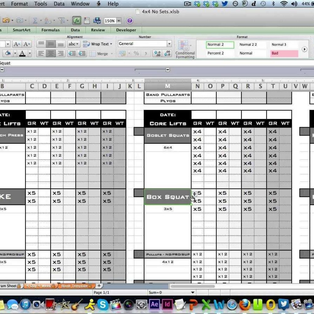 Excel Spreadsheet Training Youtube Pertaining To Personal Training Workout Log From Excel Training Designs  Youtube
