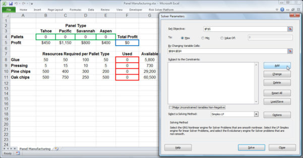 Excel Spreadsheet Tutorial 2010 Regarding Excel Solver Tutorial  Stepstep Easy To Use Guide For Excel's