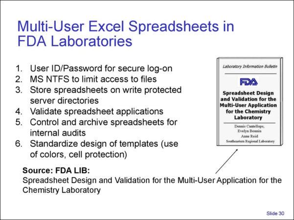 Excel Spreadsheet Validation Fda With Regard To Validation And Use Of Exce Spreadsheets In Regulated Environments