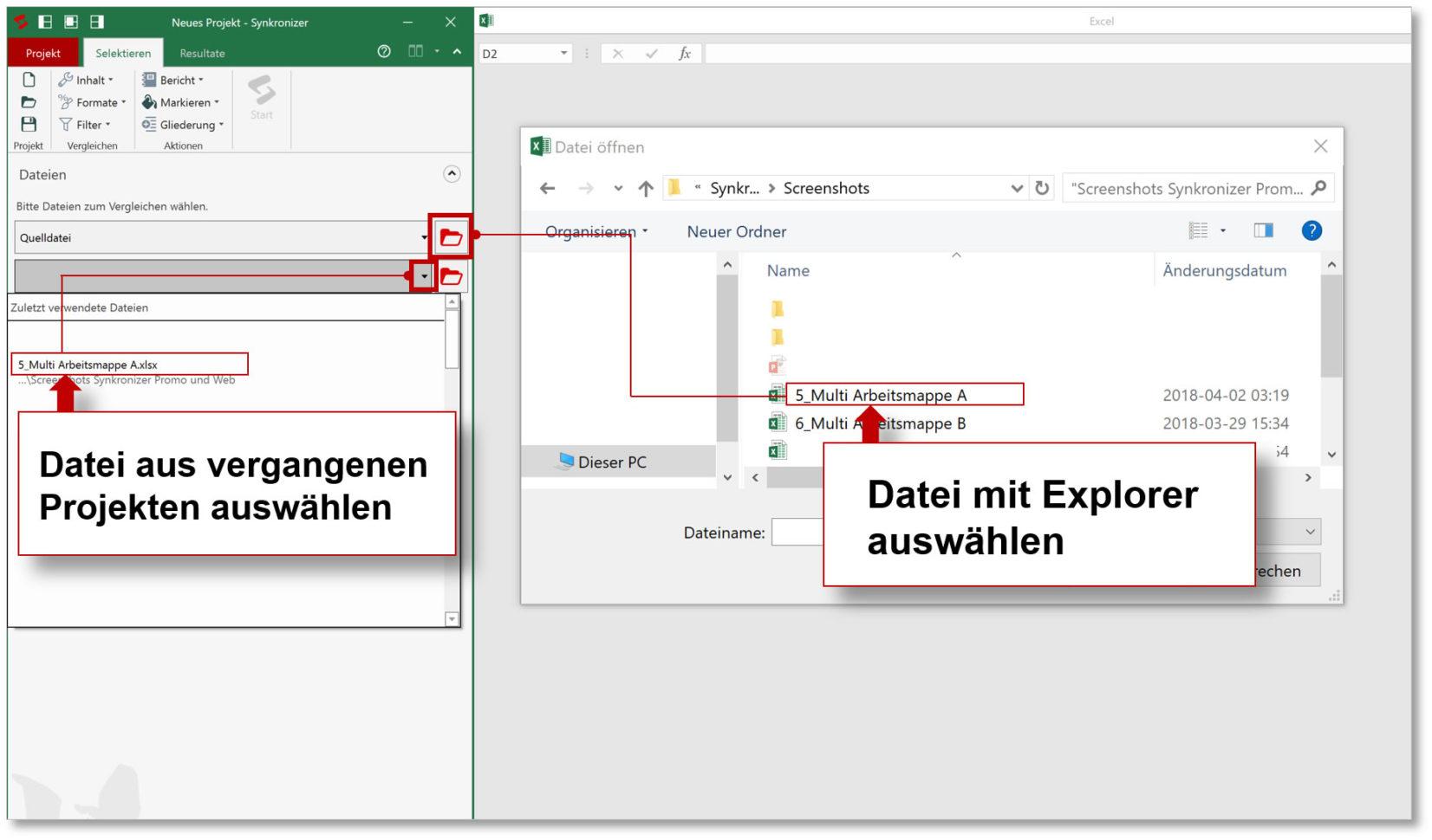 Excel Spreadsheet Validierung For Synkronizer Excel Compare: Excel Tabellen Zusammenführen Und Vergleichen