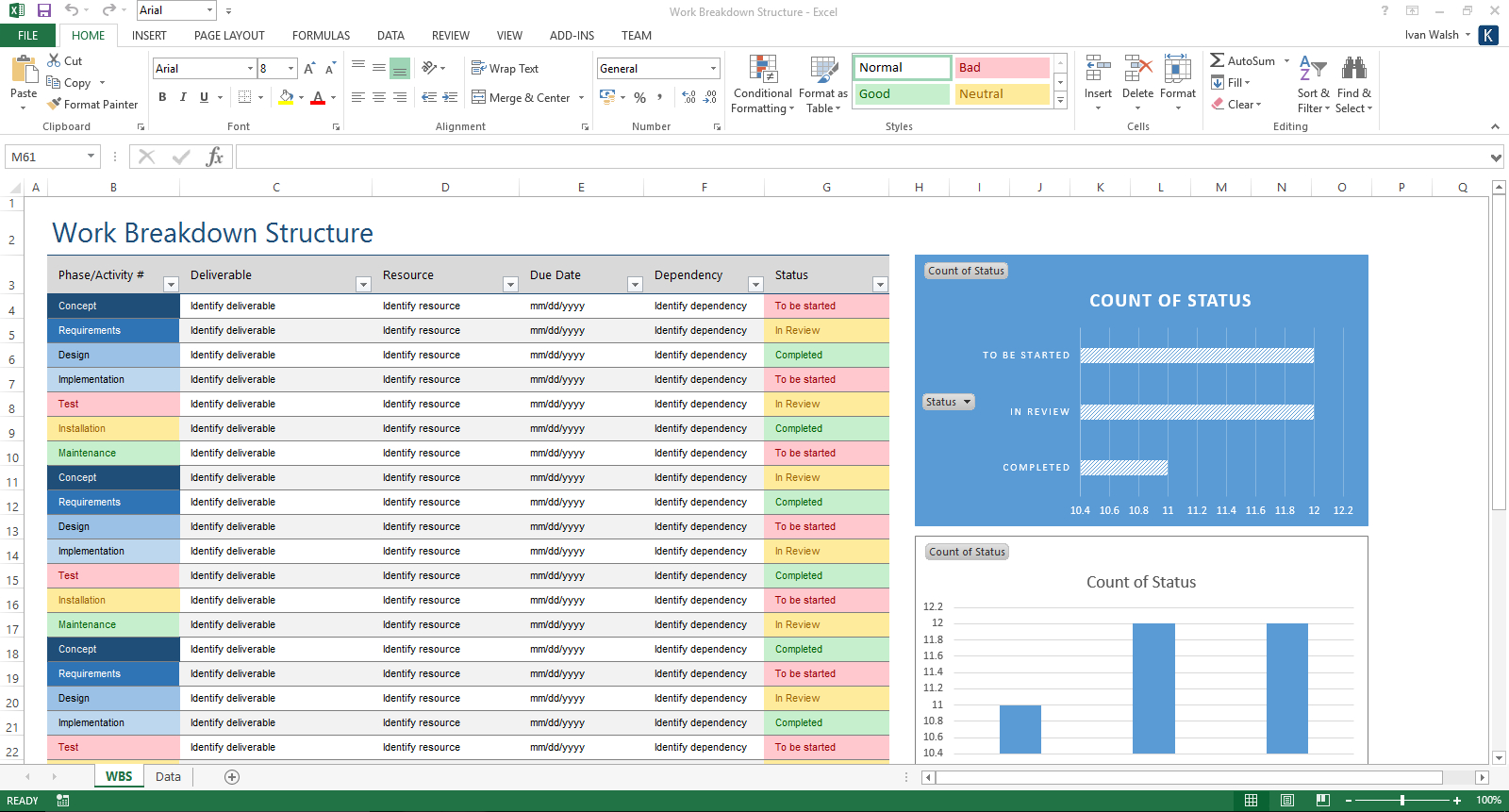 Excel Spreadsheet Validierung Throughout Verification And Validation Plan Template Ms Word  Templates