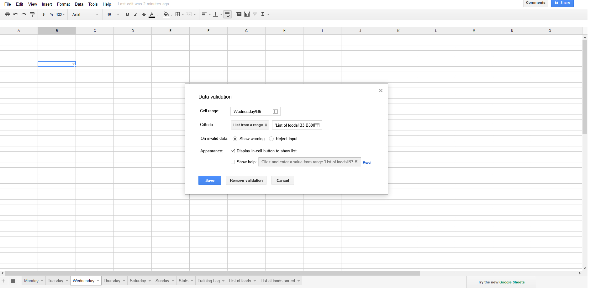 Excel Spreadsheet Validierung With How Can You Sort Data Validation Input List In Google Spreadsheet
