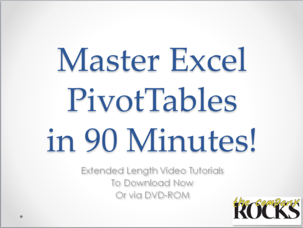 Excel Spreadsheet Video Tutorial Intended For Excel Pivot Tables Video Training, Video Tutorials For Excel Pivot
