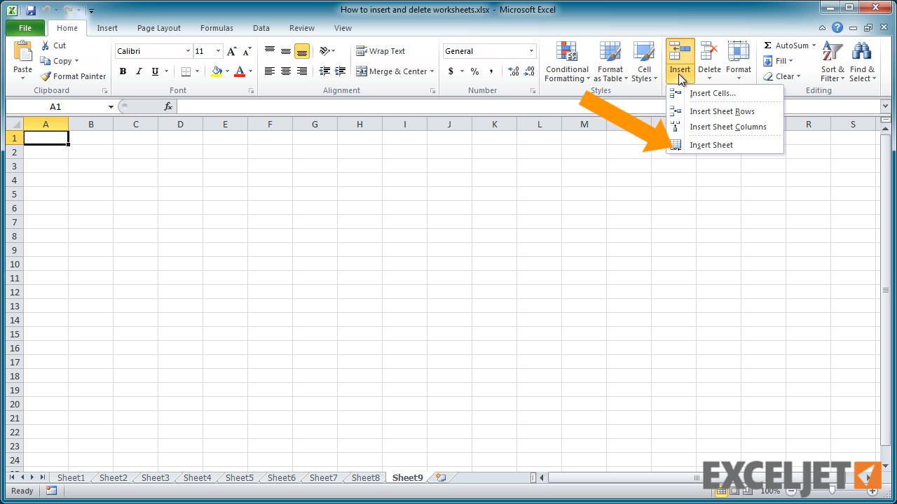 Excel Spreadsheet Video Tutorial Regarding Excel Tutorial: How To Insert And Delete Worksheets