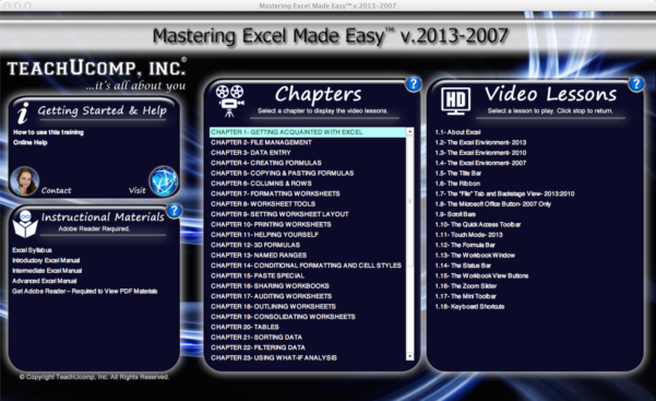 Excel Spreadsheet Video Tutorial With Excel Training Tutorial Free Online For Excel 2013