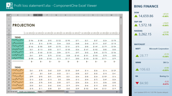 Excel Spreadsheet Viewer For New Release Of Componentone Excel Viewer