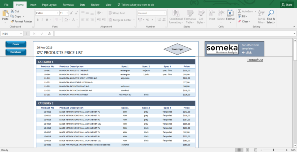 Excel Spreadsheets For Business For Business Excel Templates  Rent.interpretomics.co
