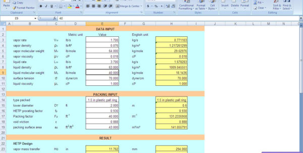Excel Spreadsheets For Piping Calculations With Kolmetz  Guidelines
