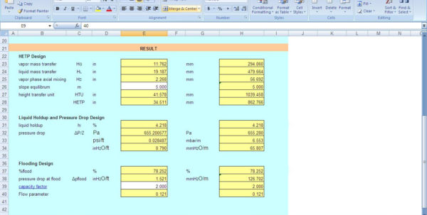 Excel Spreadsheets For Piping Calculations Within Heat Exchanger Design: Heat Exchanger Design Calculations Excel Sheet