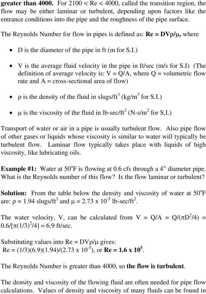 Excel Spreadsheets For Piping Calculations Within Pipe Flowfriction Factor Calculations With Excel  Pdf