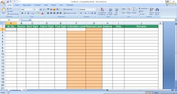 Excel Spreadsheets For Surveyors Inside Cs Software Help: Importing Cross Section Data From Excel