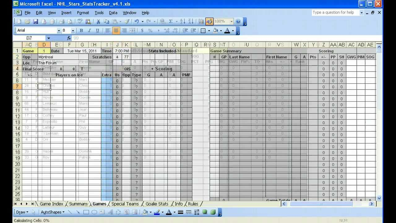 Excel Statistical Spreadsheet Templates In Excel Hockey Stats Tracker Youtubetics Spreadsheet Volleyball Sheet