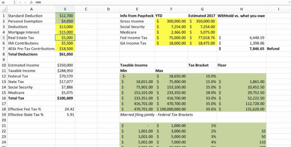 Excel Tax Spreadsheet For Personal Income Tax Spreadsheet Budget Spreadsheet Excel Spreadsheet