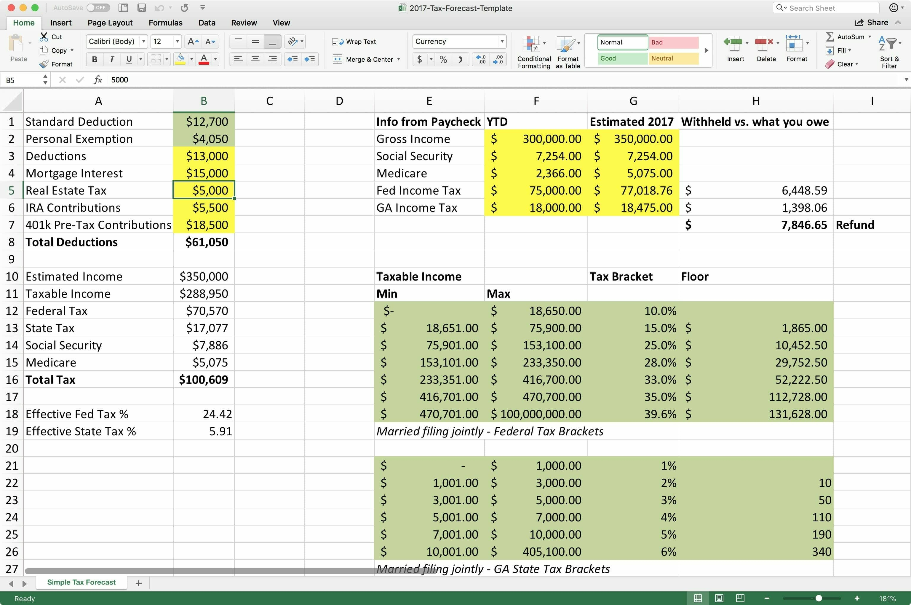excel tax spreadsheet printable spreadshee excel