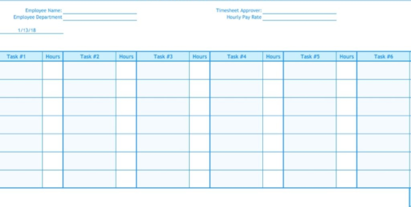 Excel Time Tracking Spreadsheet For Weekly Timesheet Template  Free Excel Timesheets  Clicktime In