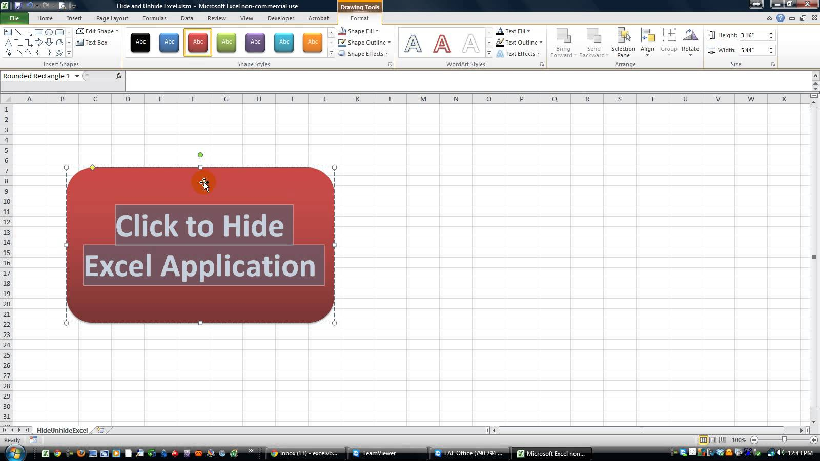 Excel Vba Spreadsheet In Userform Intended For How To Hide Excel And Show Userform Only  Excel Vba • Kc Protrade
