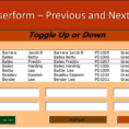 Excel Vba Spreadsheet In Userform Pertaining To Userform Previous And Next Buttons  Excel Vba  Online Pc Learning