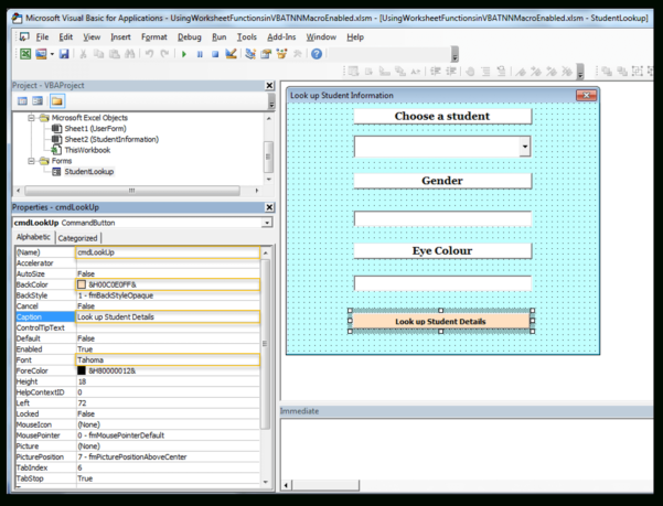 Excel Vba Spreadsheet In Userform Regarding How To Use Index  Match Worksheet Functions In Excel Vba