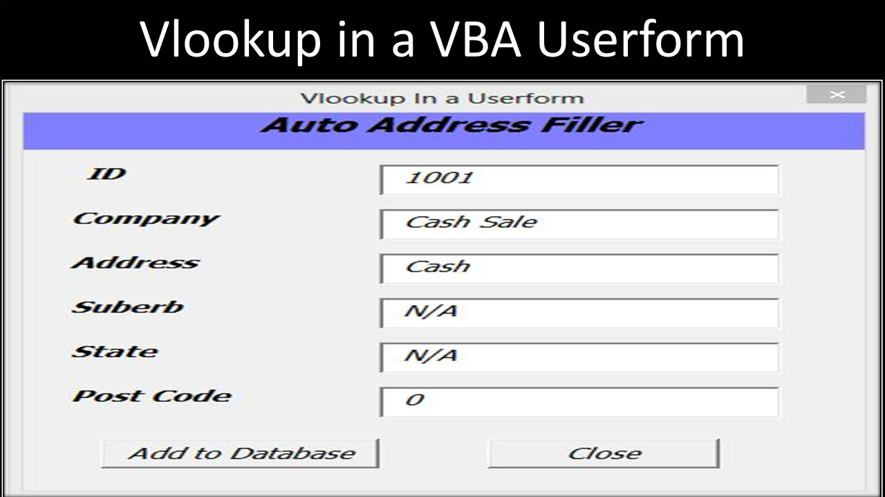 Excel Vba Spreadsheet In Userform With Regard To Excel Vba Userform Vlookup  Online Pc Learning