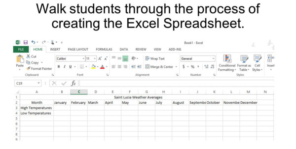 Excel Weather Data Spreadsheet With Regard To Using Excel To Collect Data From A Virtual Environment.  Ppt Download