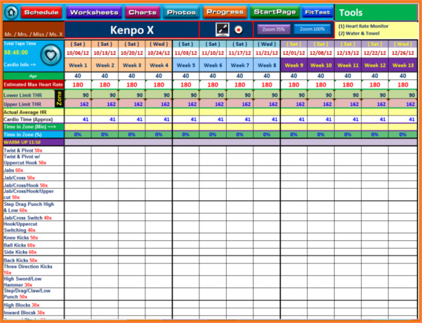 Exercise Spreadsheet For Workout Template Spreadsheet  Askoverflow